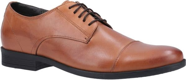Hush Puppies Ollie Cap Toe Lace Mens Shoes Dark Brown